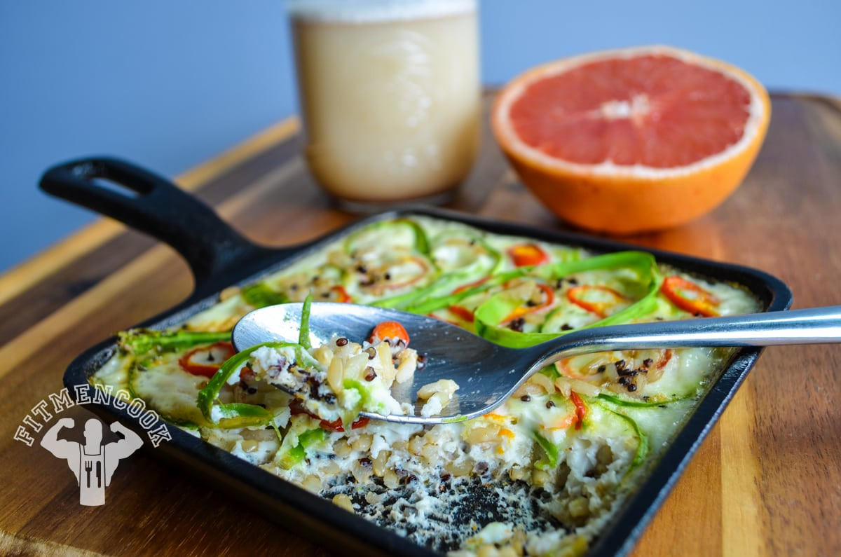 Healthy Breakfast For Men  Egg White Asparagus and Brown Rice & Quinoa Frittata