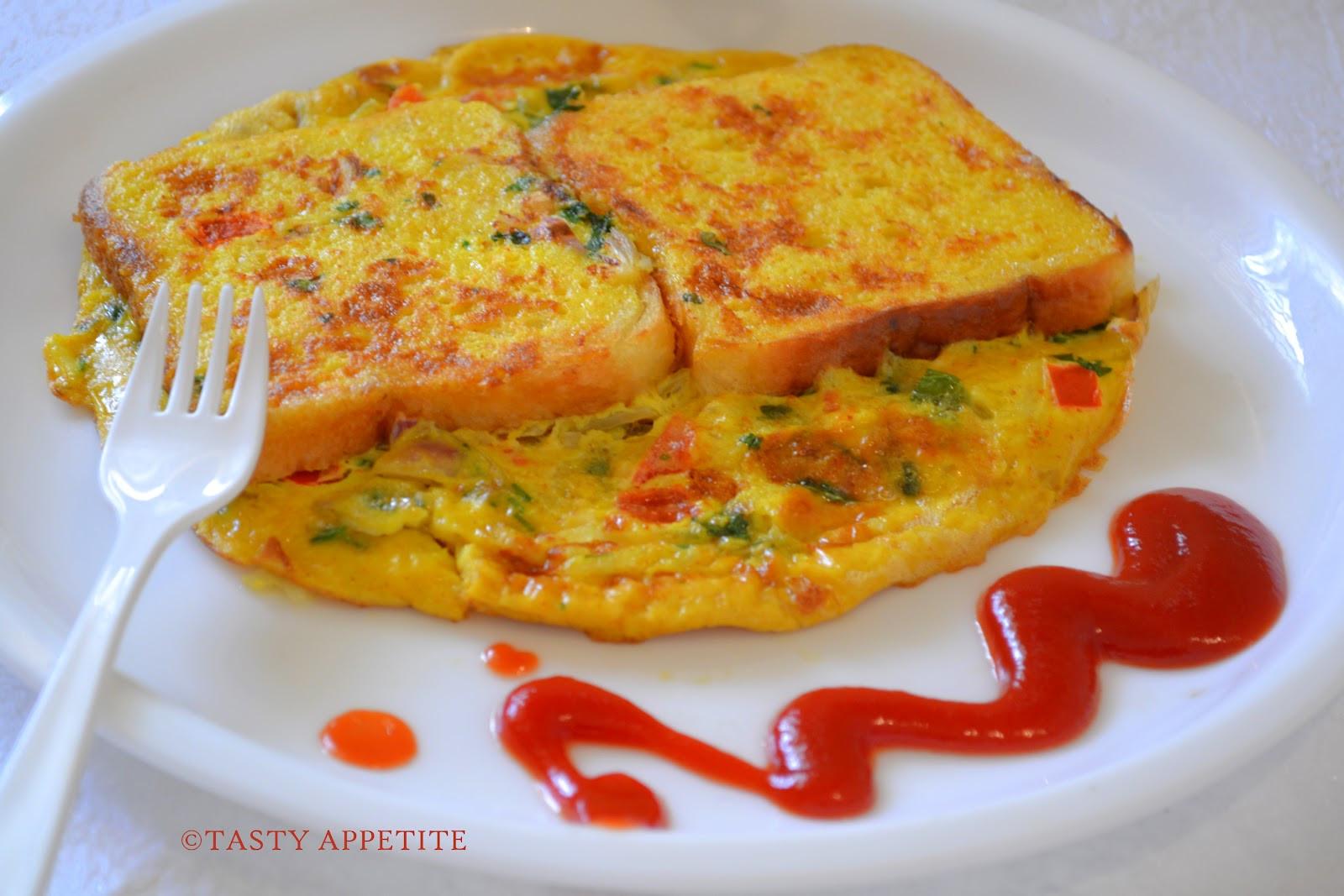 Healthy Breakfast Omelette  Bread Omelet Healthy Breakfast Menu step by step