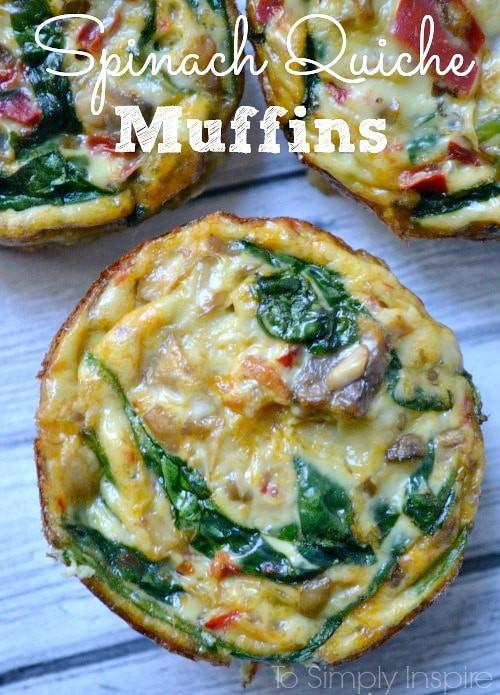 Healthy Breakfast Quiche  Spinach Quiche Muffins