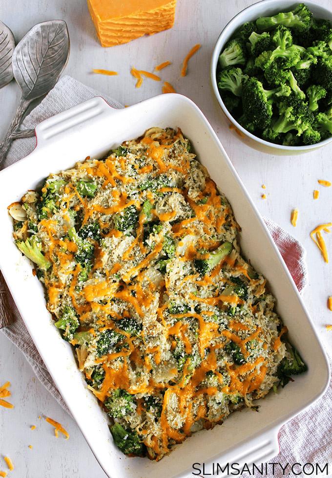 Healthy Broccoli Casserole  Healthy Broccoli Chicken Casserole Slim Sanity