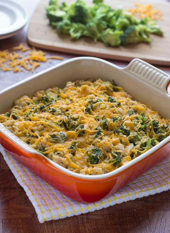 Healthy Broccoli Casserole  Chicken Broccoli Rice Casserole Recipe without Soup