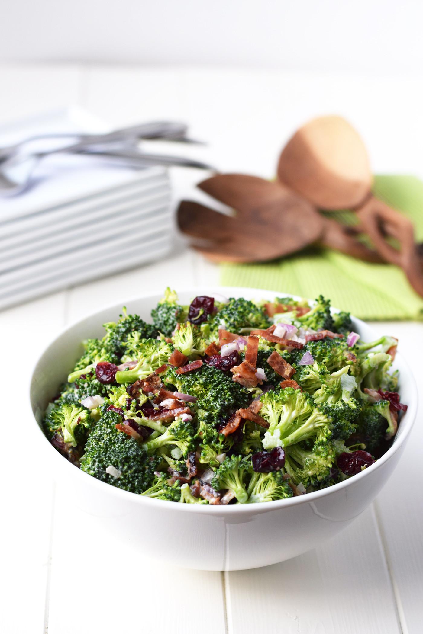 Healthy Broccoli Salad Recipe  healthy broccoli salad recipe with greek yogurt