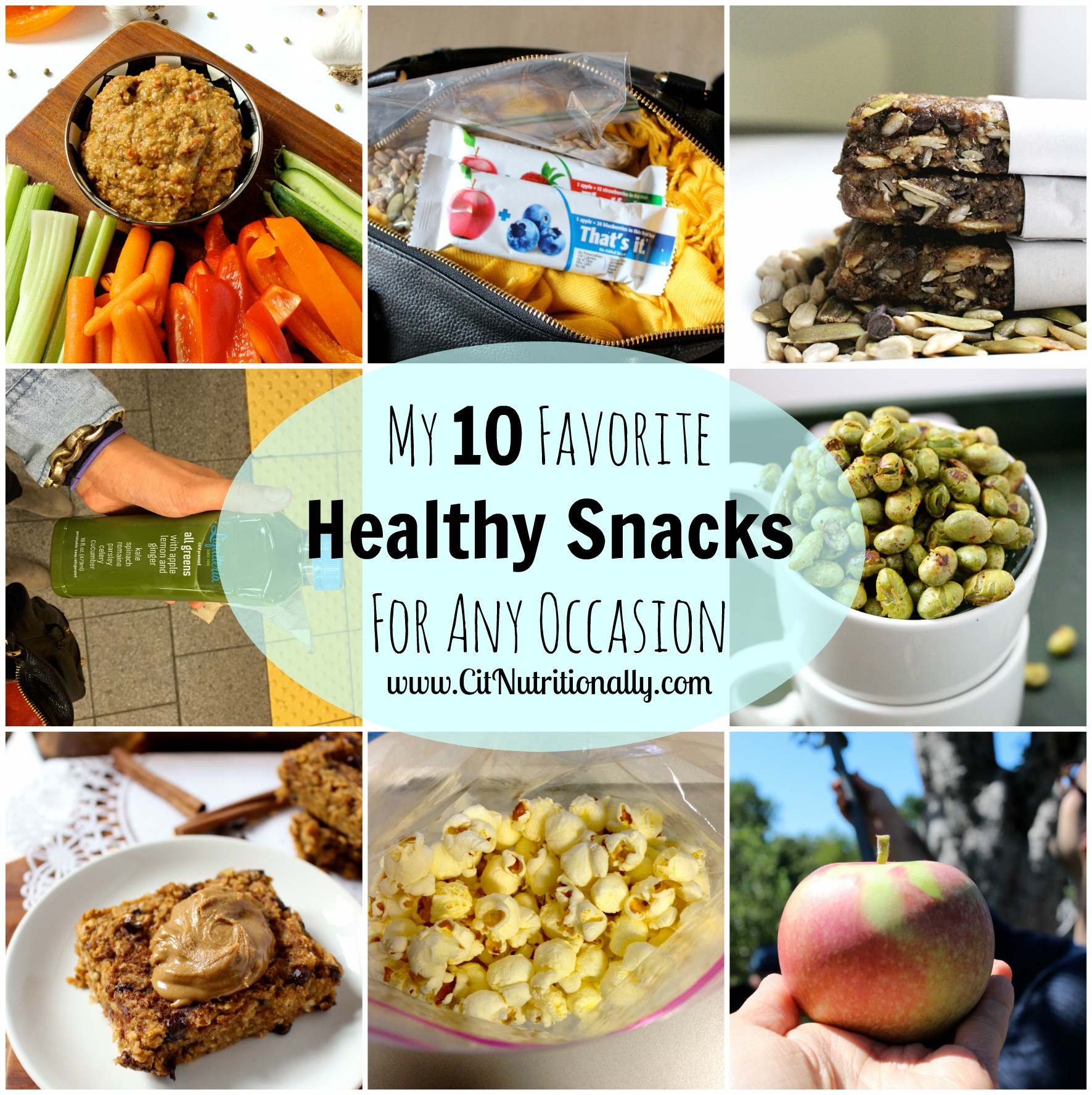 Healthy Carb Snacks  My 10 Favorite Healthy Snacks For Any Occasion…New Years