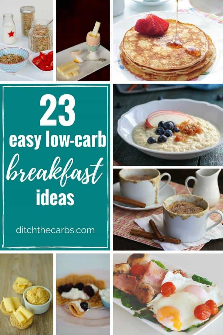 Healthy Carbs For Breakfast  23 Easy Low Carb Breakfast Ideas easy quick and sugar
