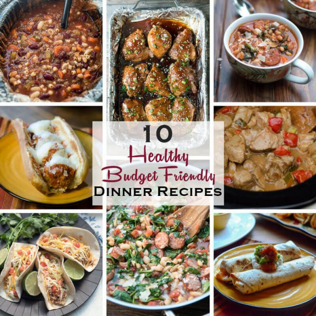 Healthy Cheap Dinners  10 Healthy Dinner Recipes on a Bud Valerie s Kitchen