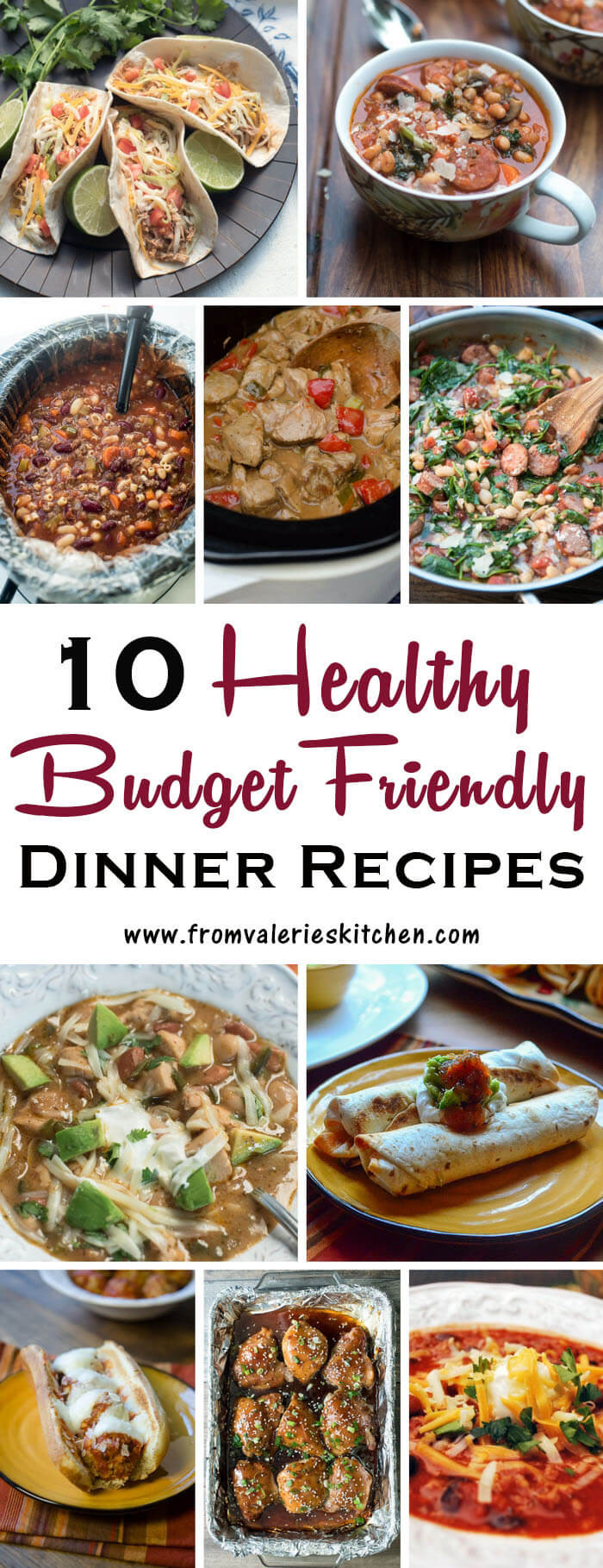 Healthy Cheap Dinners  10 Healthy Dinner Recipes on a Bud