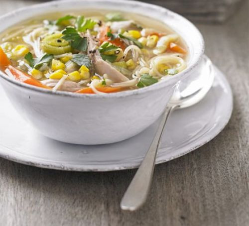 Healthy Chicken Noodle Soup Recipe  Chicken sweetcorn & noodle soup recipe