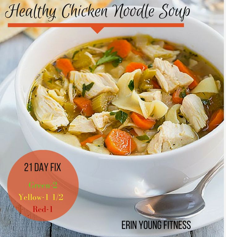 Healthy Chicken Noodle Soup Recipe  100 Chicken Noodle Recipes on Pinterest