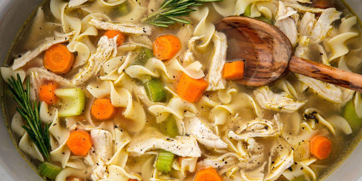 Healthy Chicken Noodle Soup Recipe  Easy Crockpot Chicken Noodle Soup Recipe How to Make