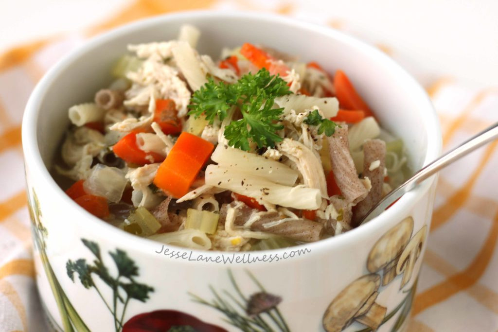 Healthy Chicken Noodle Soup Recipe  Healthy Chicken Noodle Soup by jesselwellness