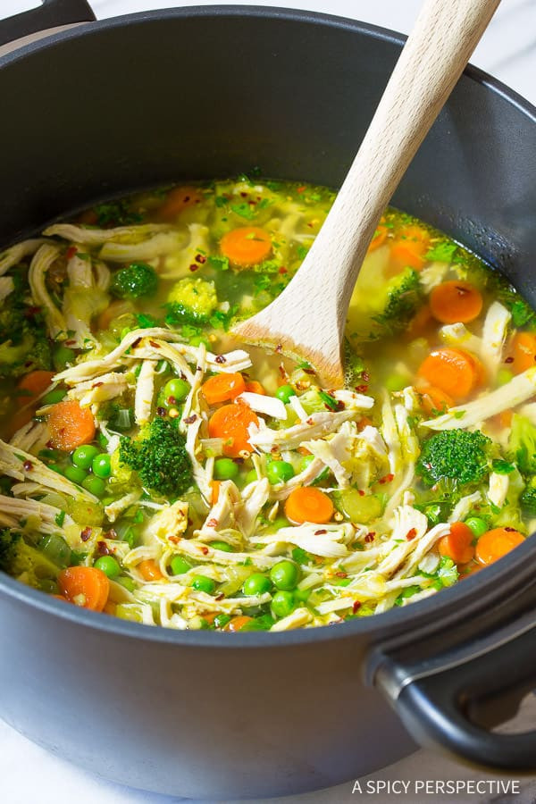 Healthy Chicken Noodle Soup Recipe  spicy chicken soup recipes from scratch