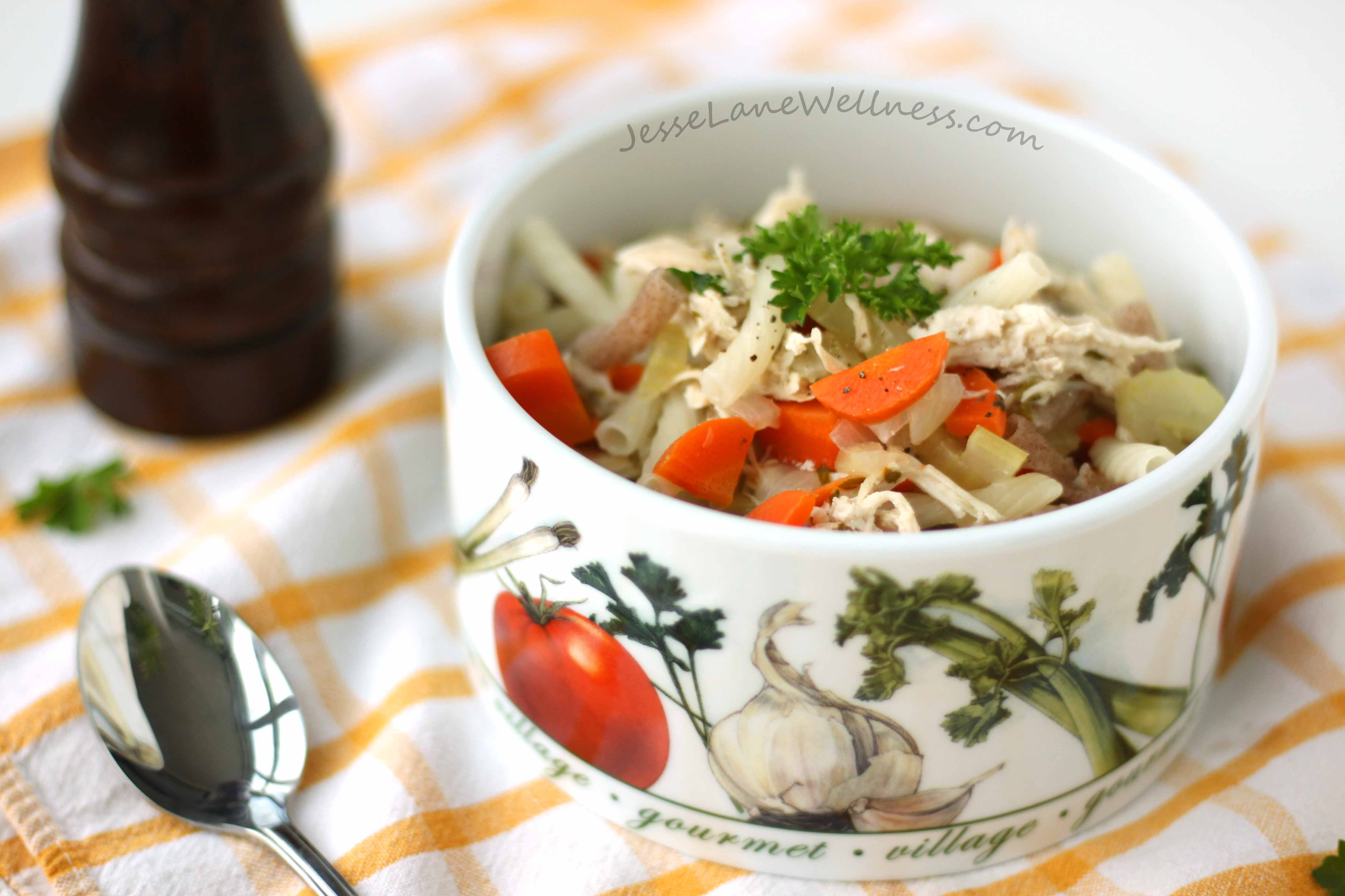 Healthy Chicken Noodle Soup  Healthy Chicken Noodle Soup Recipe by Jesse Lane Wellness