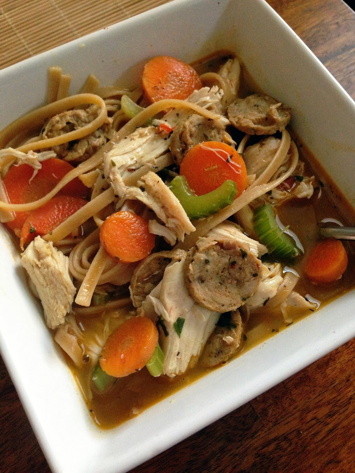 Healthy Chicken Noodle Soup  taylor made clean & healthy spicy cajun chicken noodle soup
