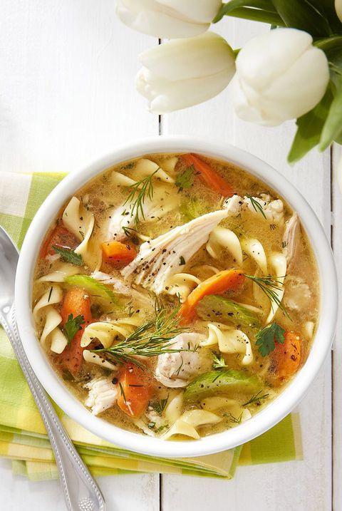 Healthy Chicken Noodle Soup  50 Best Healthy Soup Recipes Quick & Easy Low Calorie Soups
