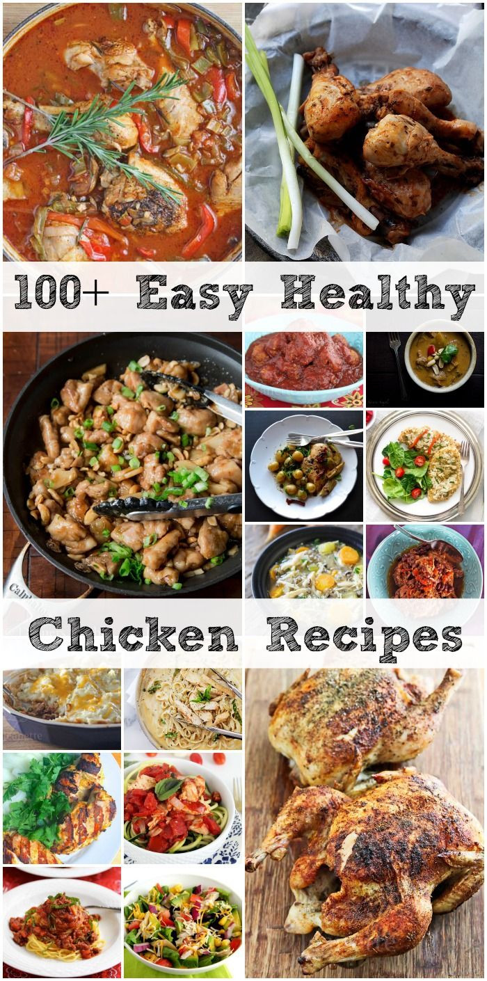 Healthy Chicken Recipes For Dinner  100 Easy Healthy Back To School Chicken Recipes