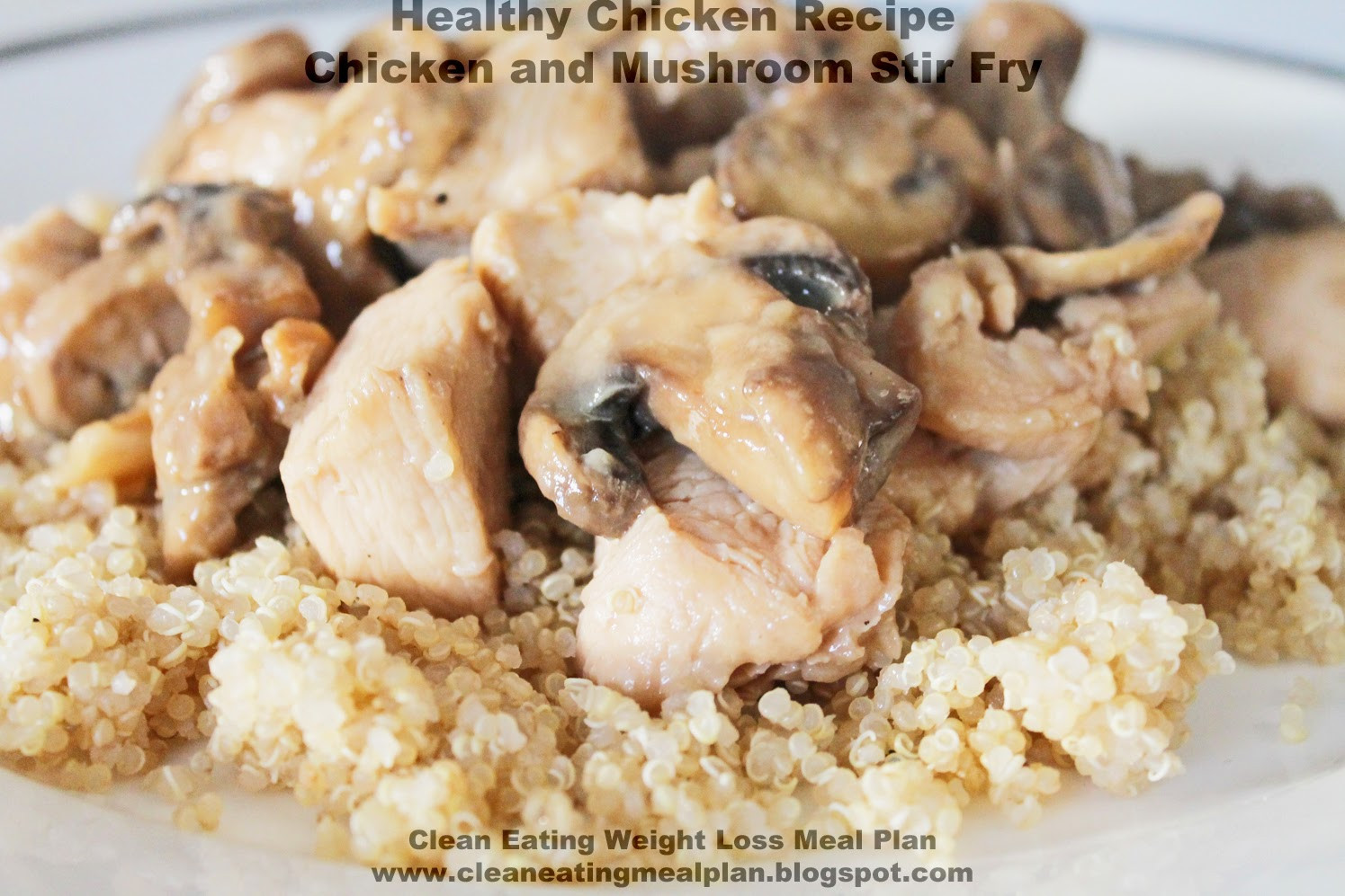 Healthy Chicken Recipes For Weight Loss  Healthy Chicken Recipe Chicken and Mushroom Stir Fry