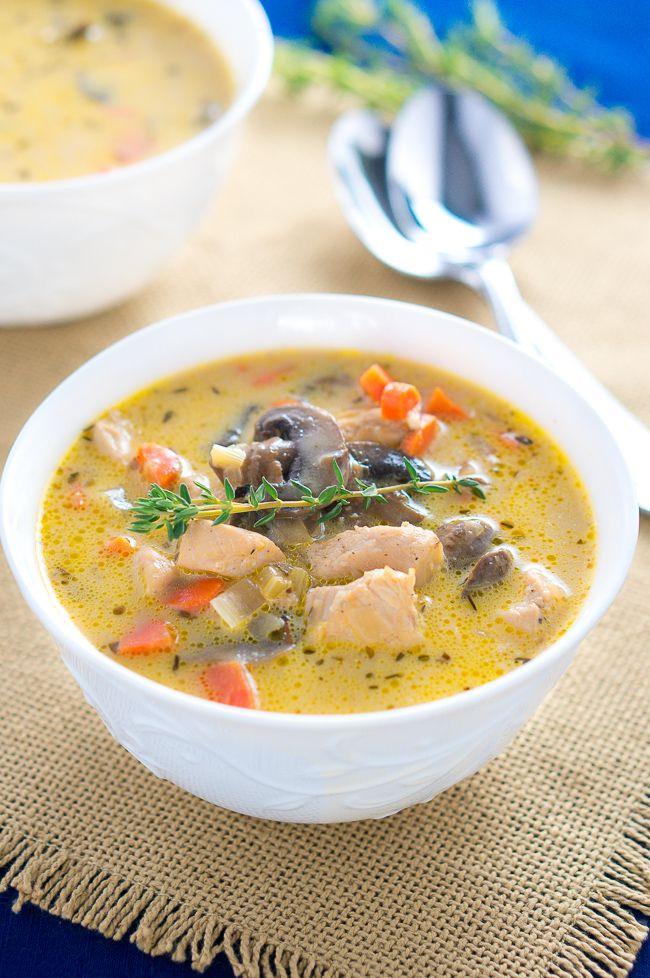 Healthy Chicken Soup  Creamy Chicken and Mushroom Soup