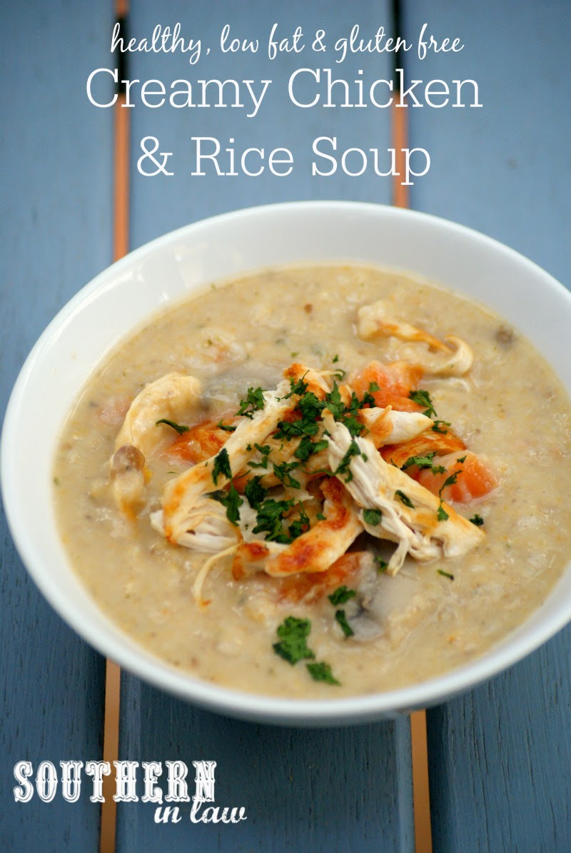 Healthy Chicken Soup  Southern In Law Recipe Healthy Creamy Chicken and Rice Soup