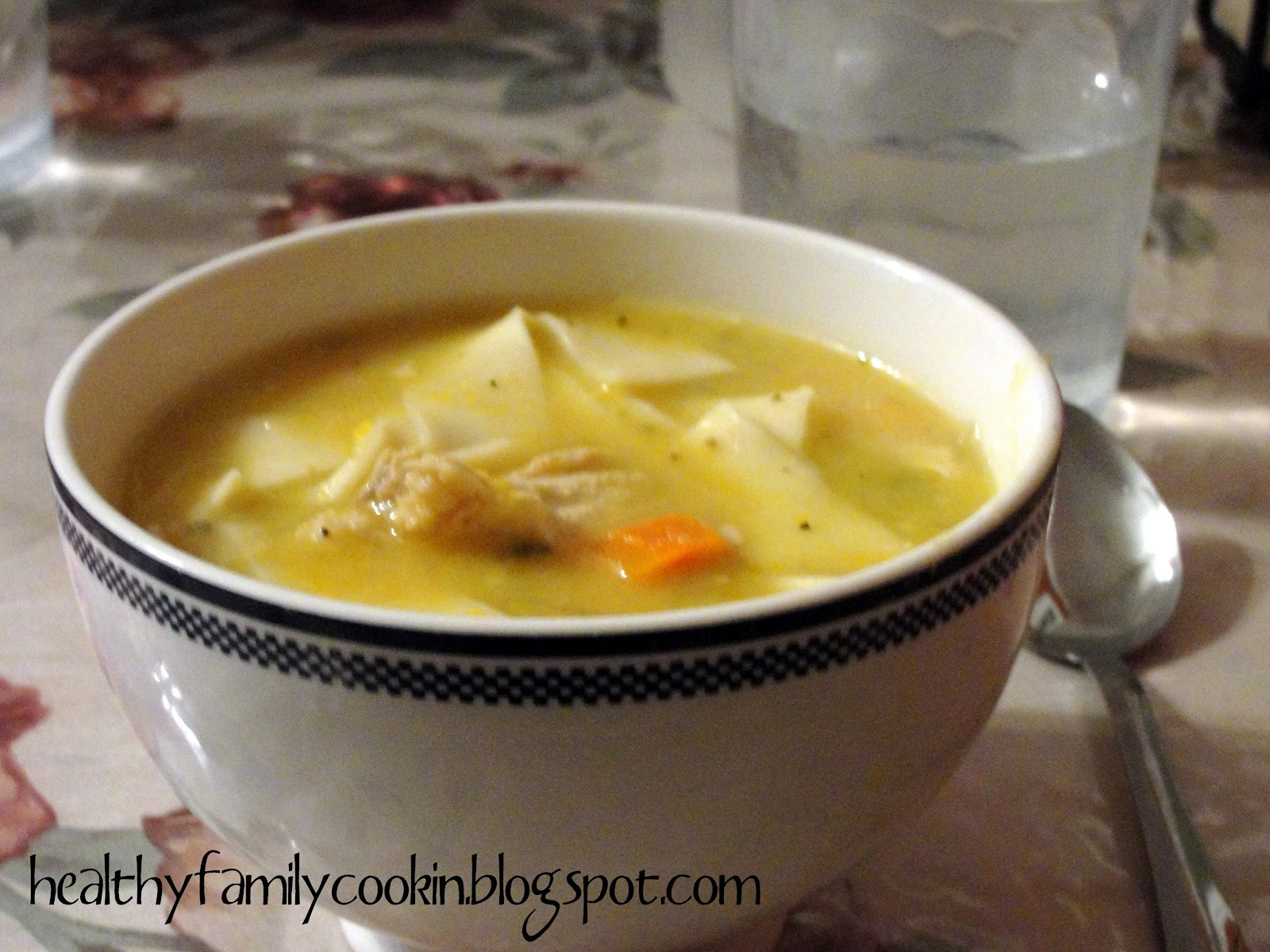 Healthy Chicken Soup  Healthy Family Cookin Chicken Noodle Soup Electric