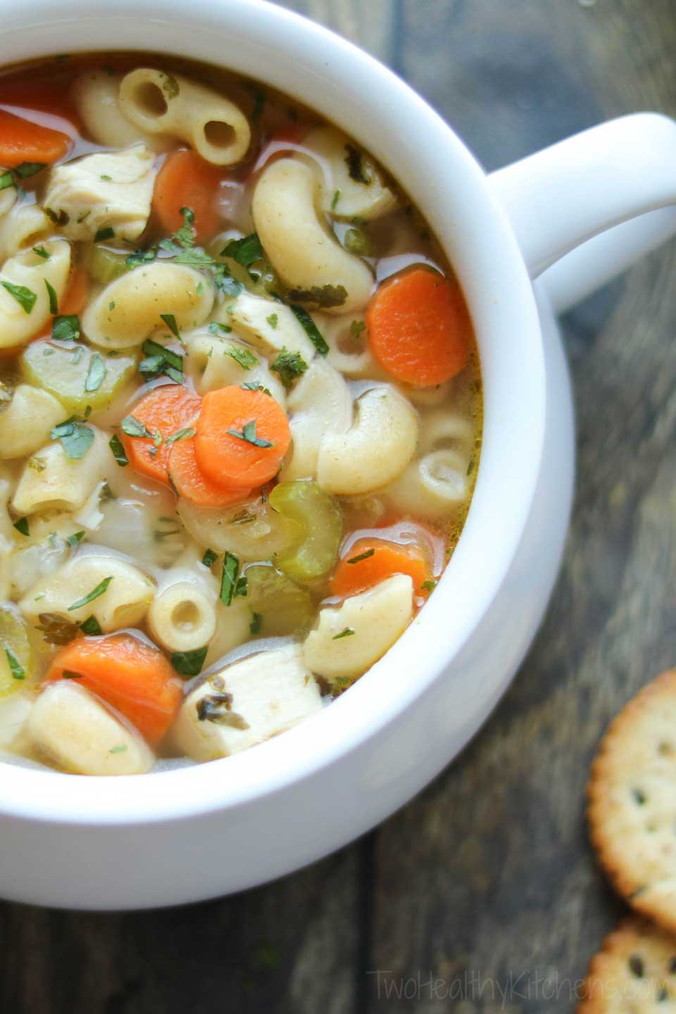 Healthy Chicken Soup  Quick & Easy Chicken Noodle Soup with Rotisserie Chicken