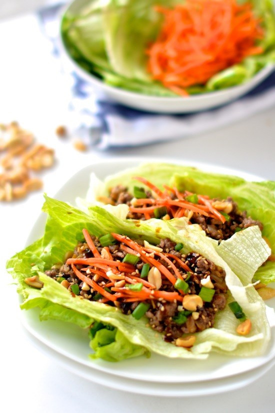 Healthy Chinese Recipes  Healthy Asian Lettuce Wraps Apple of My Eye