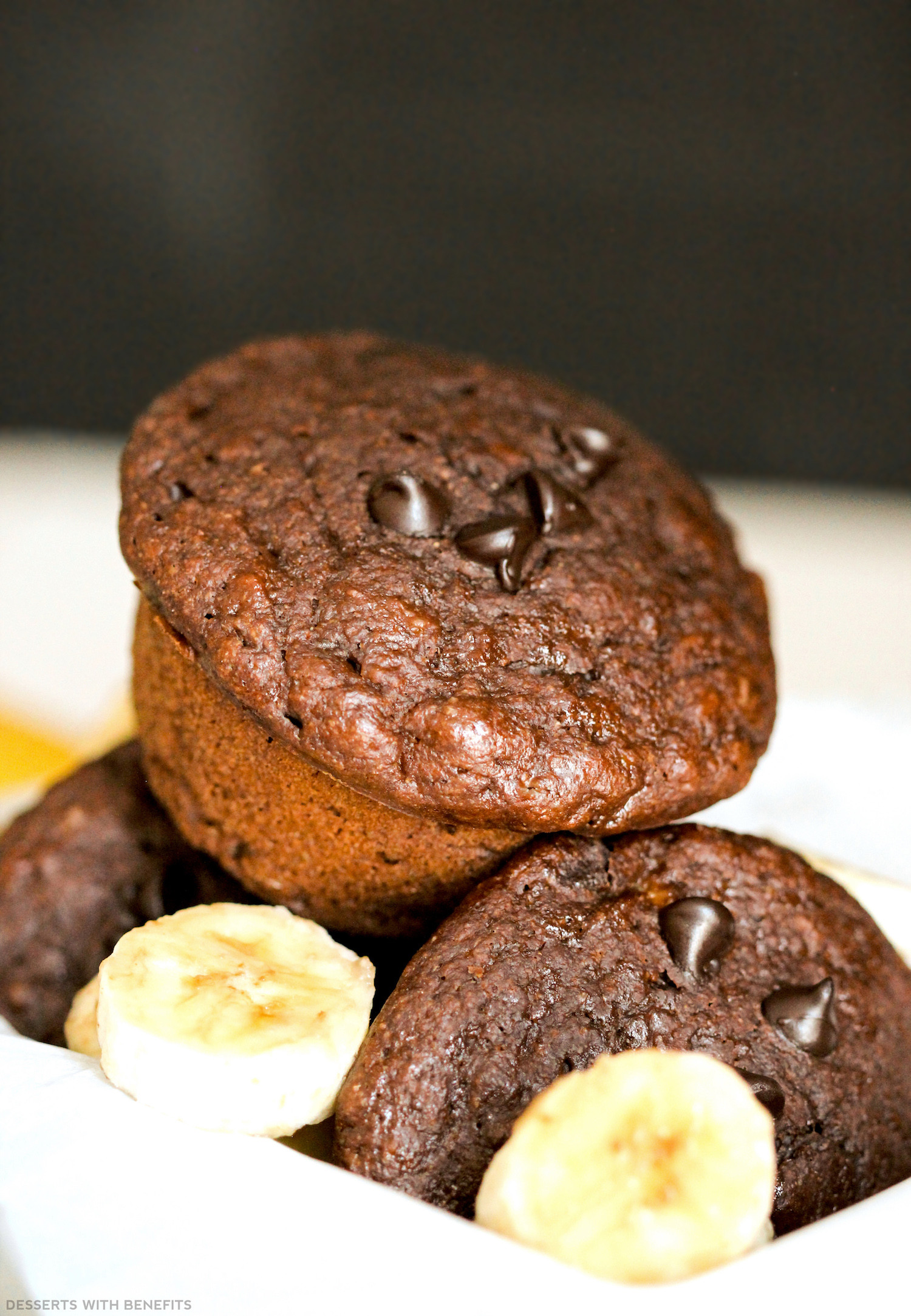 Healthy Chocolate Muffins  Healthy Chocolate Banana Muffins refined sugar free low