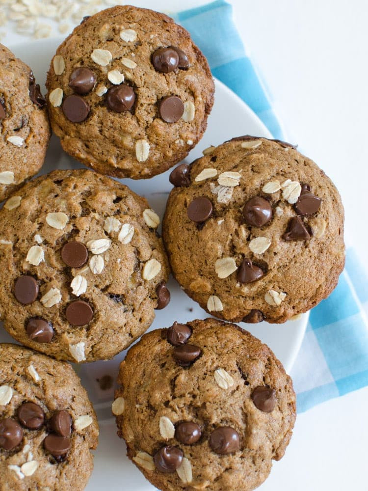 Healthy Chocolate Muffins  healthy banana chocolate chip muffins