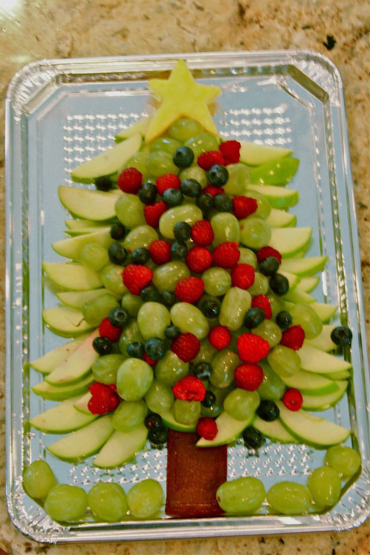 Healthy Christmas Appetizers  Healthy Christmas Tree appetizer fruit
