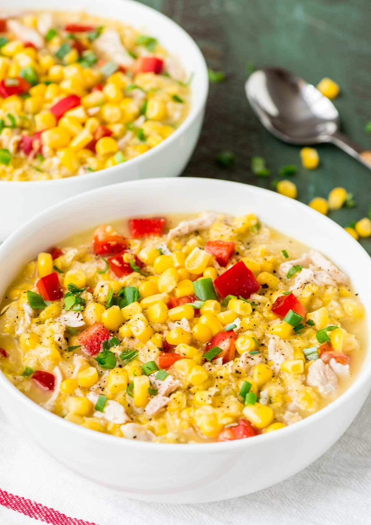 Healthy Corn Chowder  Crock Pot Corn Chowder