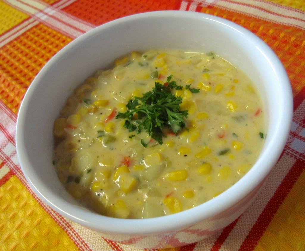Healthy Corn Chowder  Healthy Ve arian Corn Chowder