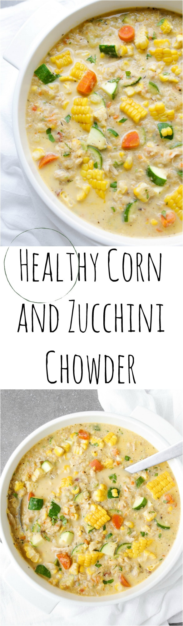 Healthy Corn Chowder  Healthy Corn and Zucchini Chowder The Forked Spoon