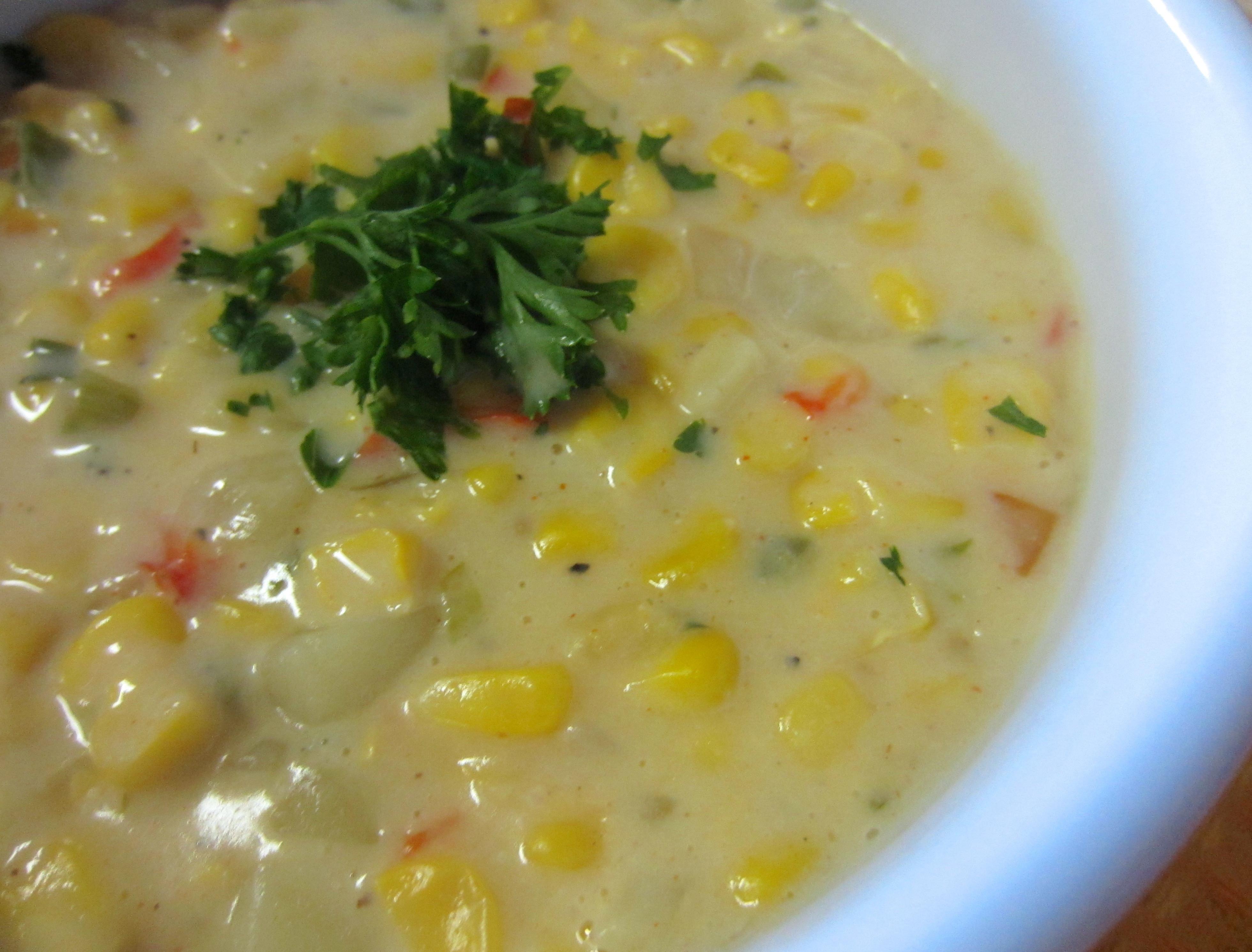 Healthy Corn Chowder  Healthy Corn Chowder Recipe closeup