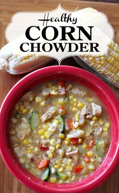Healthy Corn Chowder  PaperDaisyKitchen Healthy Corn Chowder