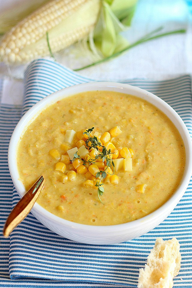 Healthy Corn Chowder  Slow Cooker Corn Chowder Soup Recipe
