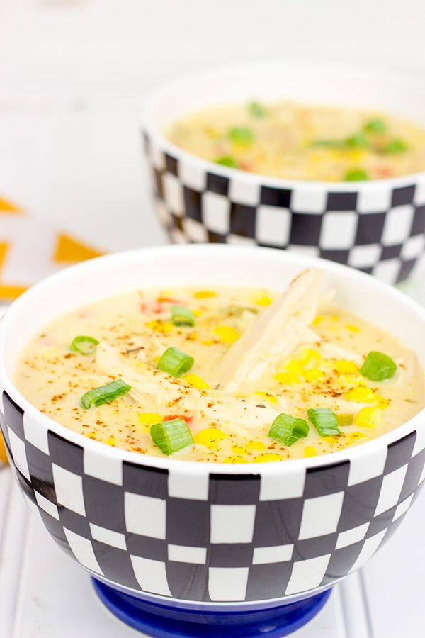 Healthy Corn Chowder  Healthy Chicken Corn Chowder