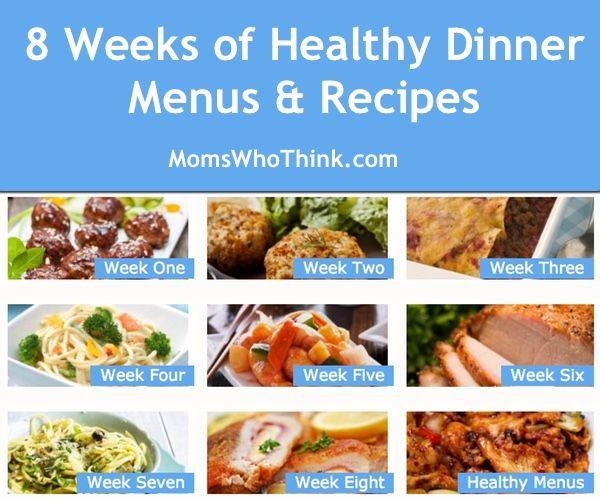 Healthy Dinner Ideas Pinterest  42 best images about Healthy Dinner Ideas Meal Plans and