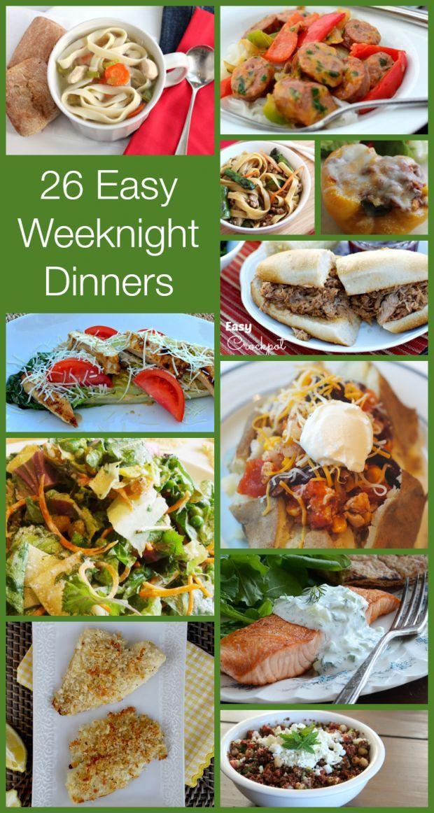 Healthy Dinner Ideas Pinterest  Weeknight dinners Easy weeknight dinners and Healthy