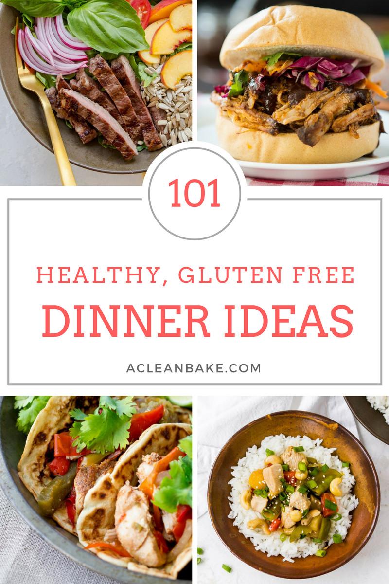 Healthy Dinner Ideas Pinterest  101 Healthy Gluten Free Dinner Ideas Tips for Starting