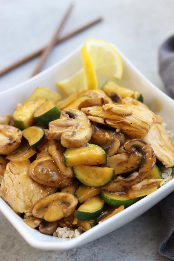 Healthy Dinner Ideas Pinterest  Lemon Chicken Stir Fry The Fed Up Foo