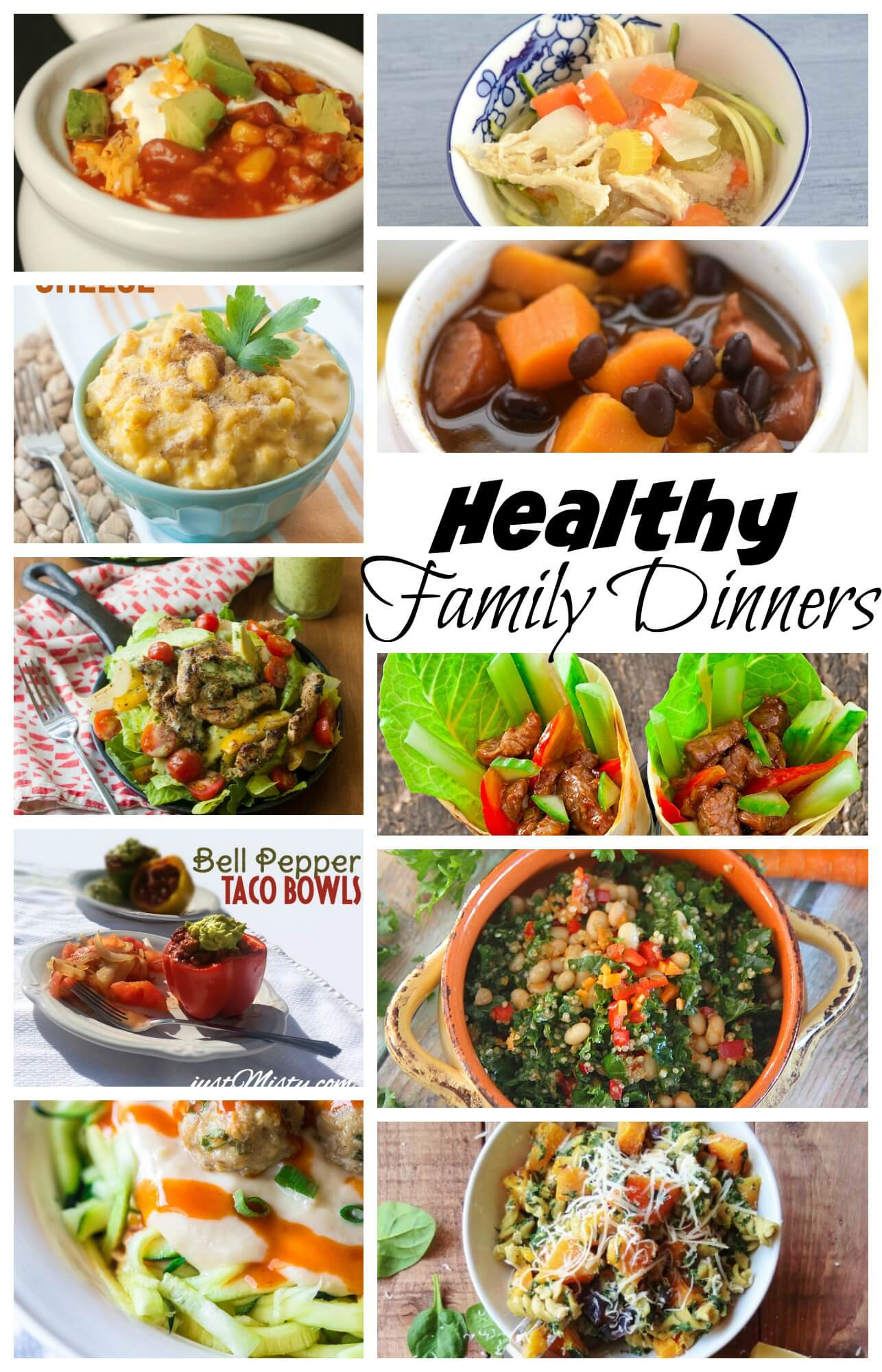 Healthy Dinner Ideas Pinterest  Healthy Family Dinner Recipes Life Sew Savory