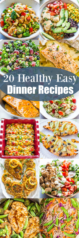 Healthy Dinner Recipes Easy  20 Healthy Easy Dinner Recipes Averie Cooks