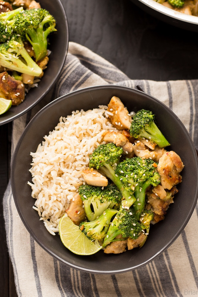 Healthy Dinner Recipes Easy  Peanut Sauce Chicken and Broccoli Bowls Fox and Briar