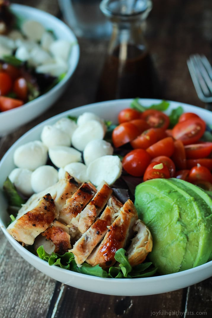 Healthy Dinner Recipes Easy  15 Minute Avocado Caprese Chicken Salad with Balsamic