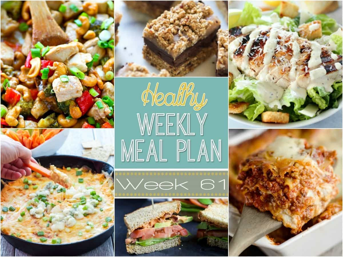 Healthy Dinner Sides  Healthy Weekly Meal Plan 61 Yummy Healthy Easy