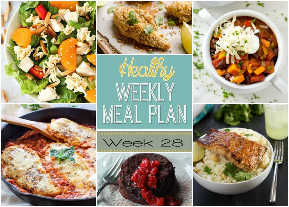 Healthy Dinner Sides  Healthy Weekly Meal Plan 28 Yummy Healthy Easy