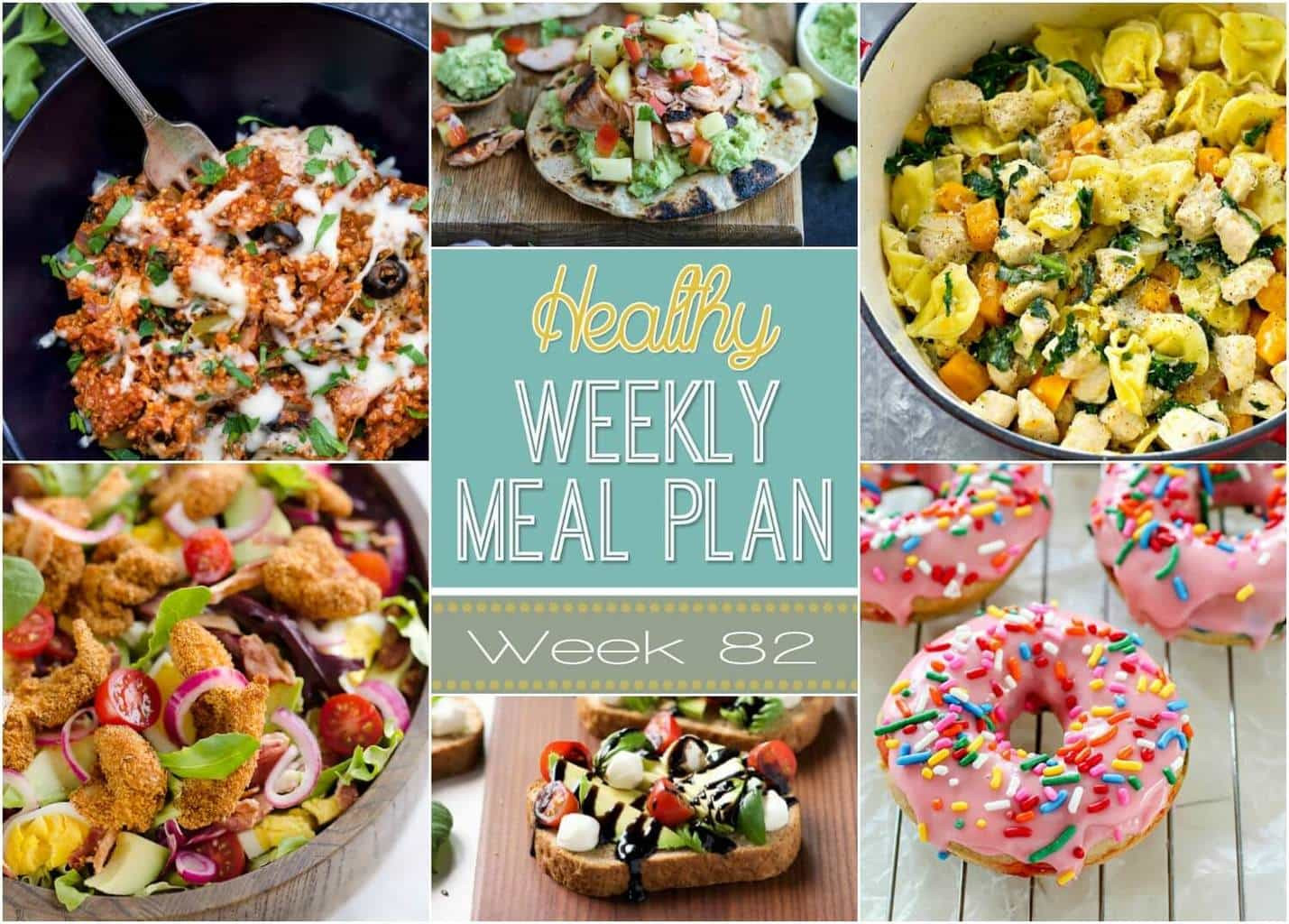 Healthy Dinner Sides  Healthy Weekly Meal Plan 82 Yummy Healthy Easy