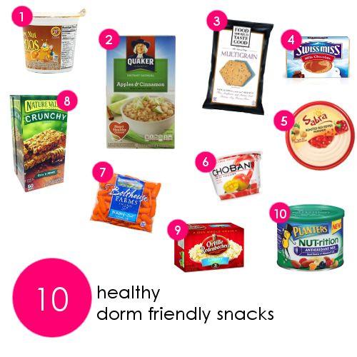 Healthy Dorm Snacks  69 best Dorm Friendly Healthy Snacks images on Pinterest