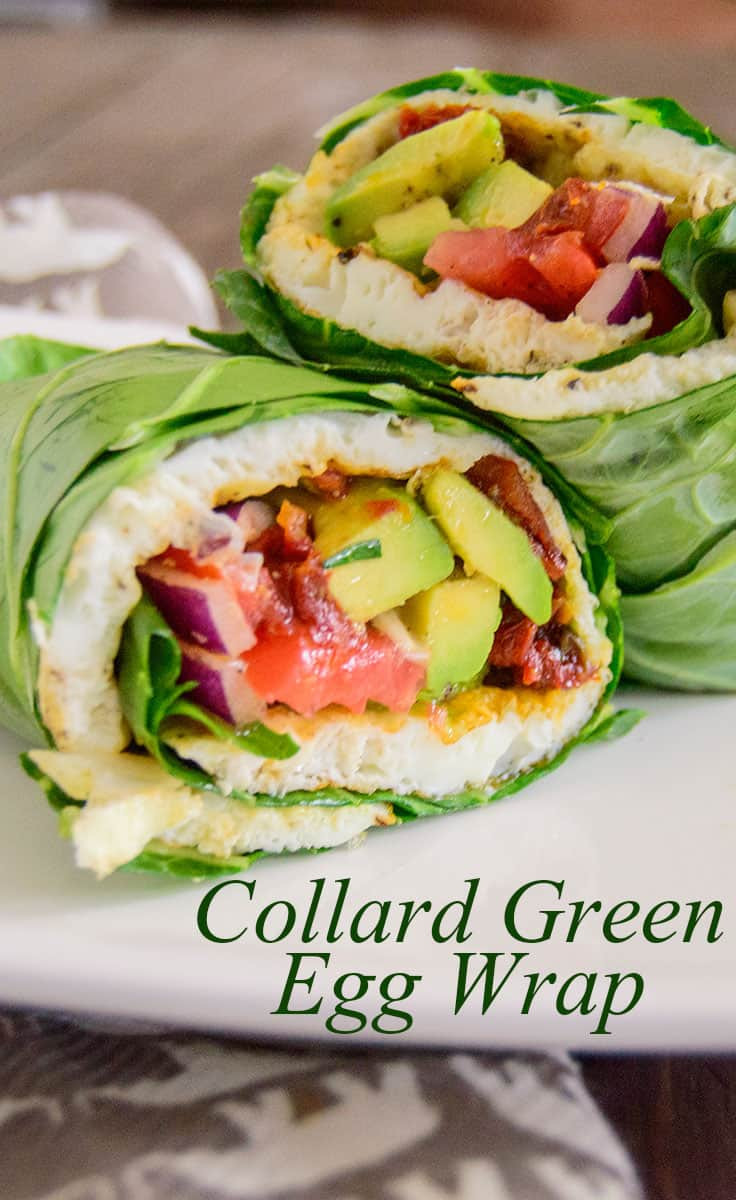 Healthy Egg White Breakfast  Egg White Collard Wrap