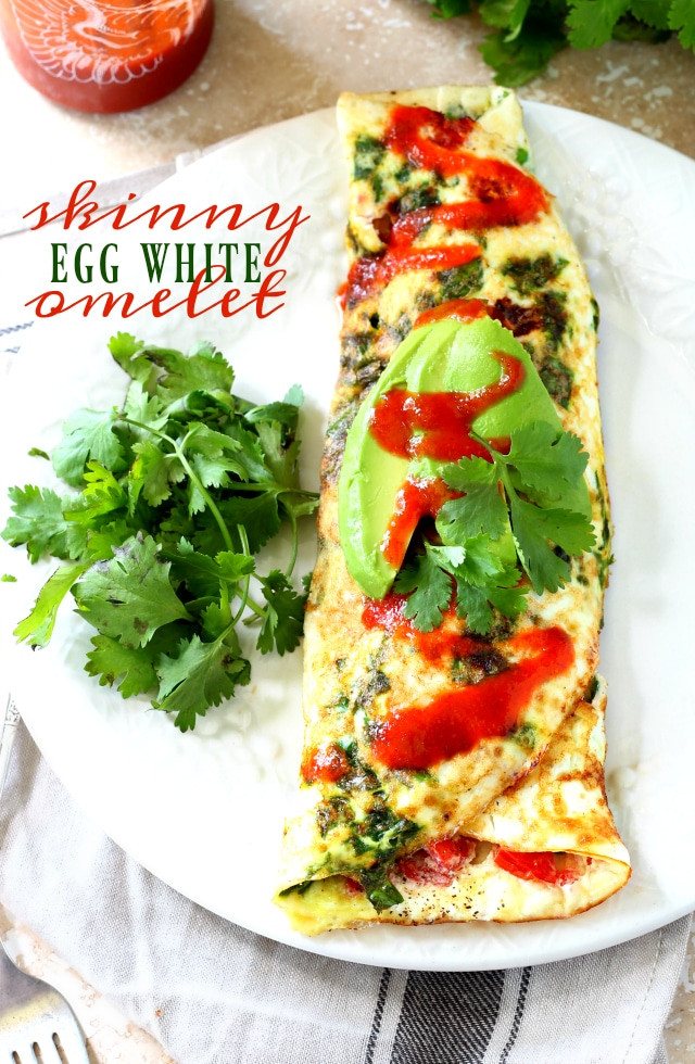 Healthy Egg White Breakfast  Skinny Egg White Omelet Kim s Cravings