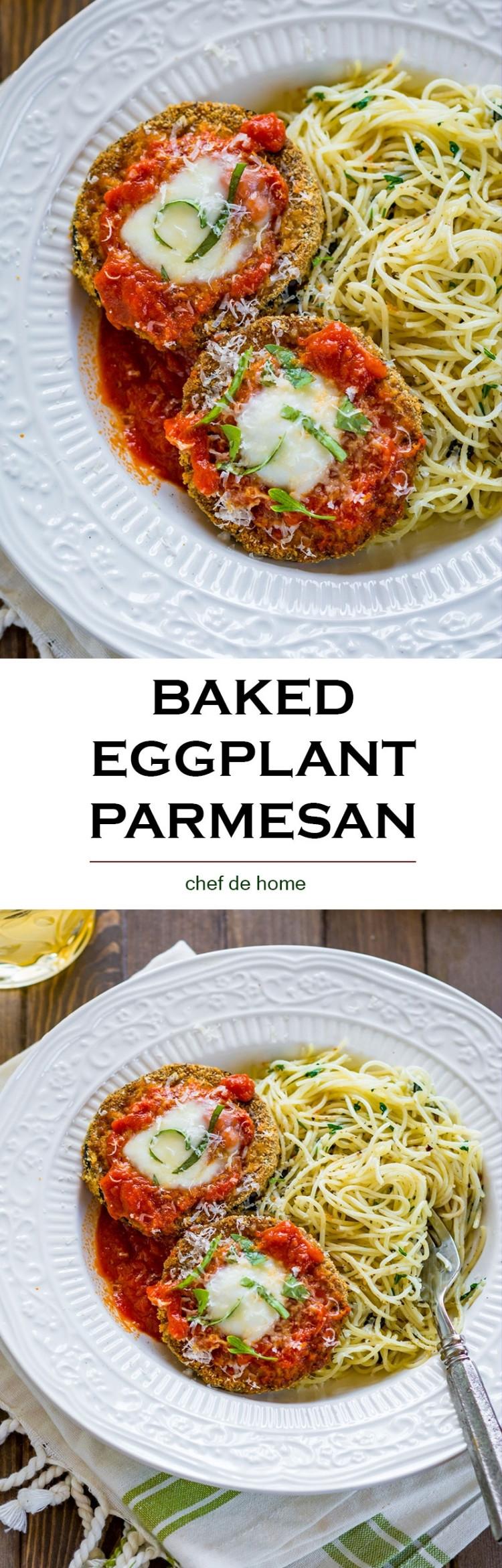Healthy Eggplant Recipes  Healthy Baked Eggplant Parmesan Recipe
